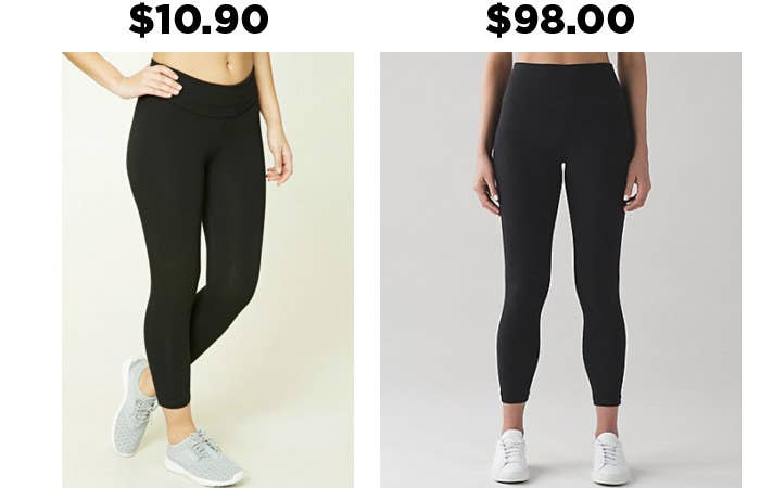 2078021859 These activewear leggings from Forever 21 have the same exact look as this  pair from Lululemon, and they're $87.20 cheaper. Yaaass!