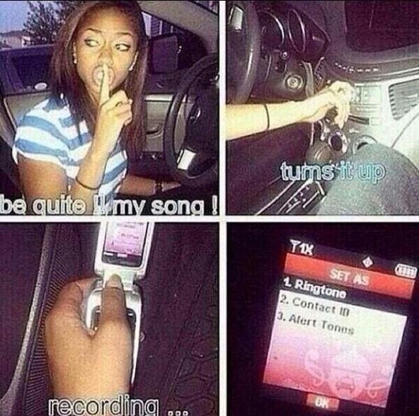 ...and of course, recording your ringtone off the radio.