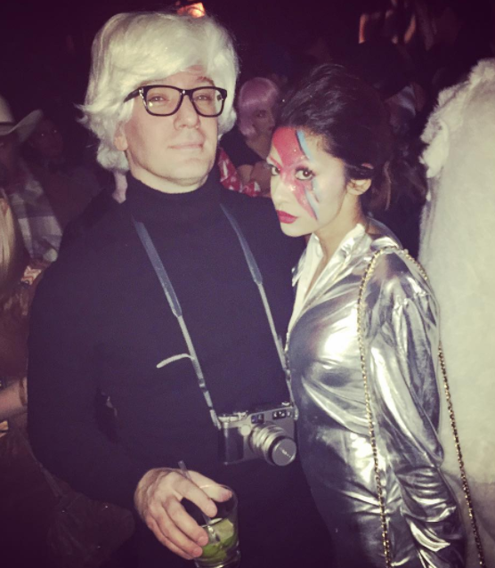 He went as Andy Warhol for Halloween.
