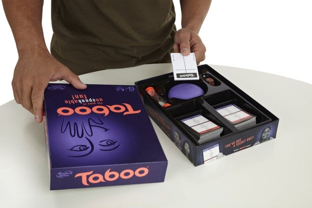 Taboo challenges your team to guess what your secret word is — except you can't use descriptions that are too obvious.