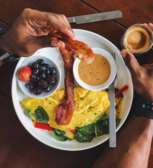 'I often work with clients who want to do everything all at once. That works for some people, but most people need to start with just one thing. Ask yourself: 'What's the meal that will have the biggest impact if I change it?' And start there. Breakfast is usually the easiest to change because most people are skipping it or grabbing something that's not super healthy out of convenience. The simplest way to change it is to make sure you're getting a balance of protein, fat, and carbs. A couple whole eggs will give you your protein and fat. Add a piece of fruit or a half cup of roasted potatoes to give you some healthy carbs.' —Erica Giovinazzo, MS, RD, Head Coach and Nutritionist, Brick Los AngelesHere are some healthy breakfasts that will fill you up.