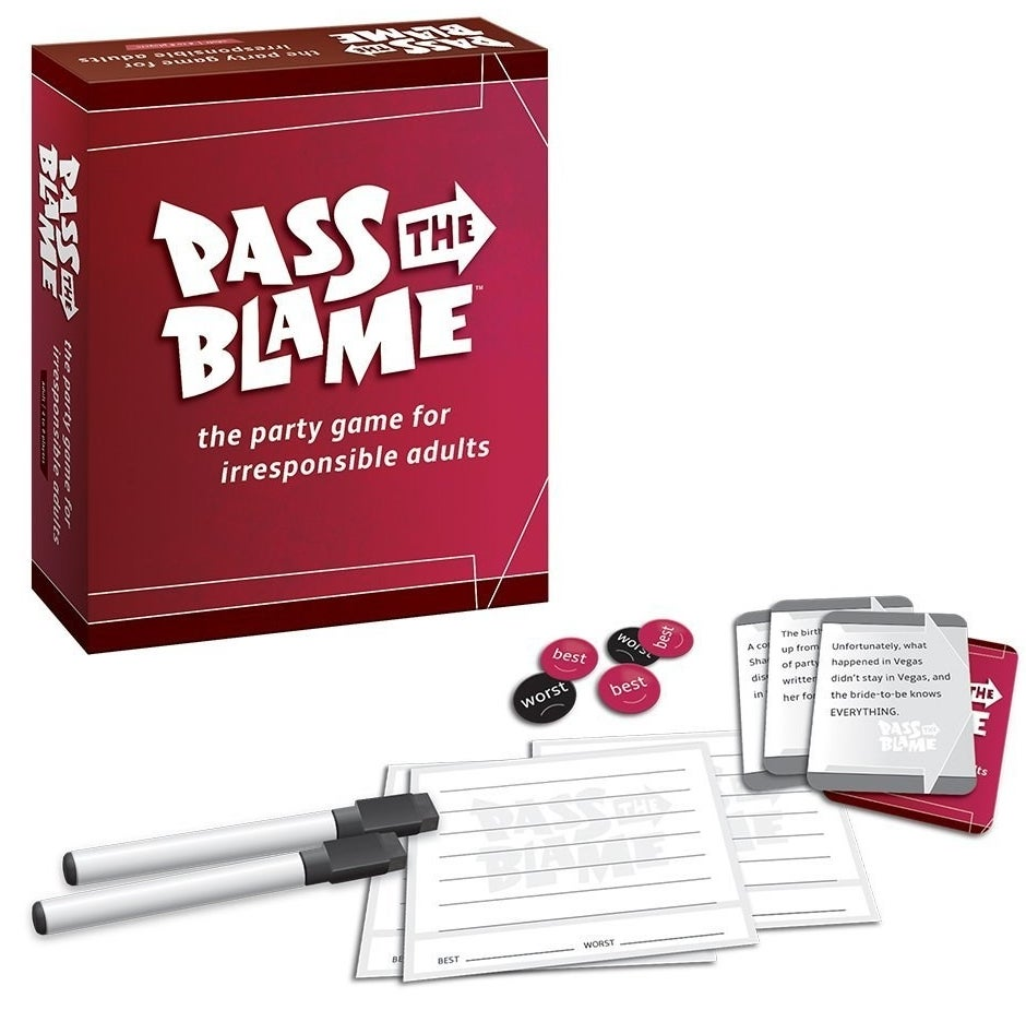 A game in which the winner successfully blames other people for their mistakes. Win!