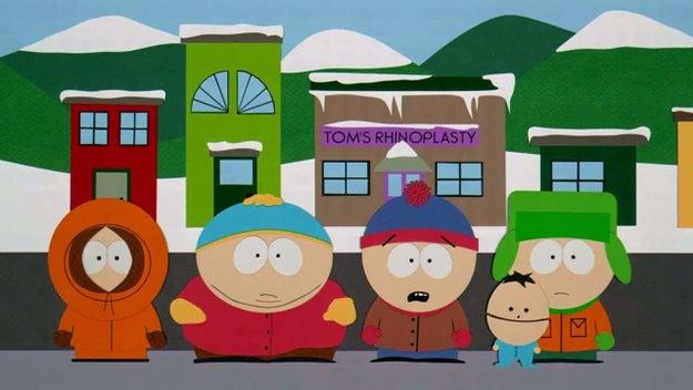 """Nos EUA, estreava a animação """"South Park"""", protagonizada pelas crianças Stan, Kyle, Cartman e Kenny."""