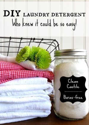 Make your own nontoxic laundry detergent.