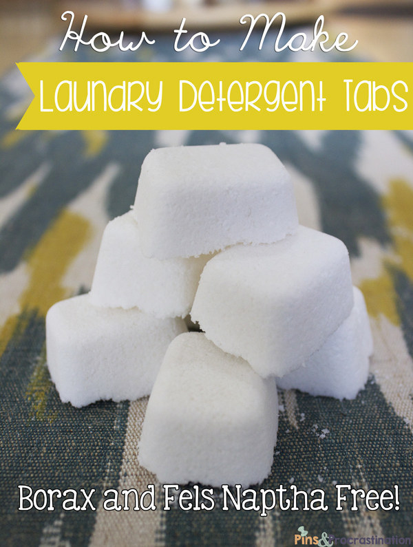 Or DIY your own laundry detergent tabs.