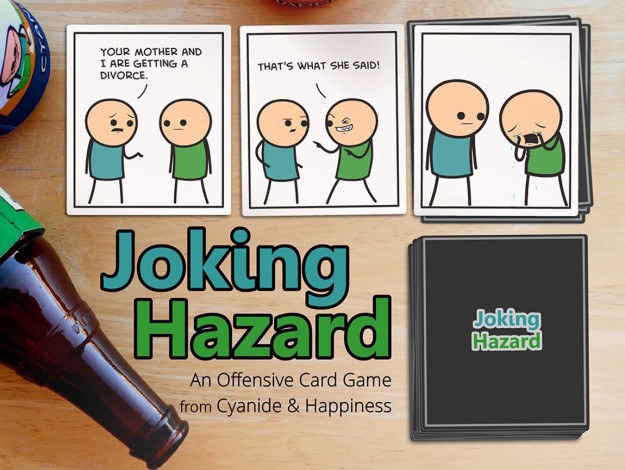Joking Hazard lets you create your own hilarious story line with 360 different comic cards.