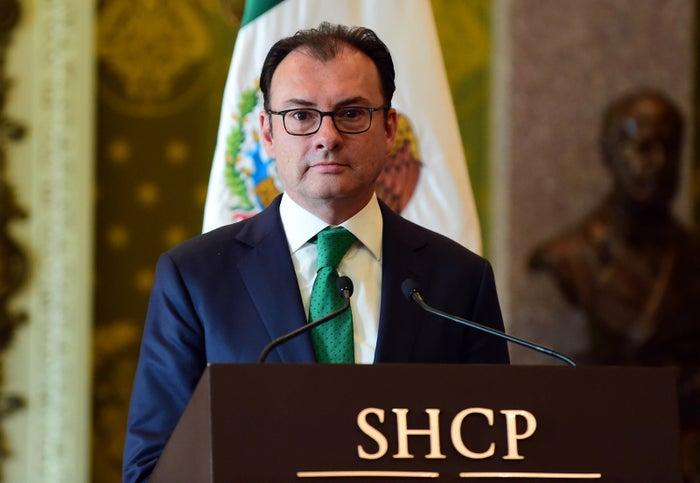 Luis Videgaray during his resignation in September 2016.