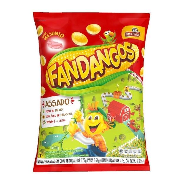 Quando batia a vontade de salgadinho, seu primo ostentava um saco de Fandangos pra cima e pra baixo.
