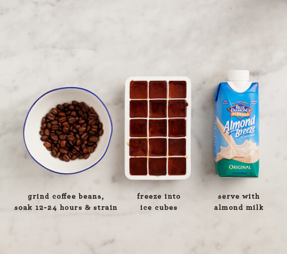 Swap regular ice cubes for cold brew coffee cubes and amp up your favorite DIY drinks.