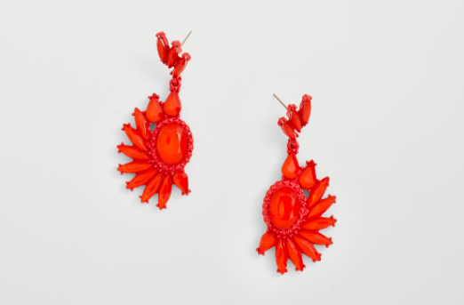 These earrings that are the perfect pop of color on a dreary winter day.