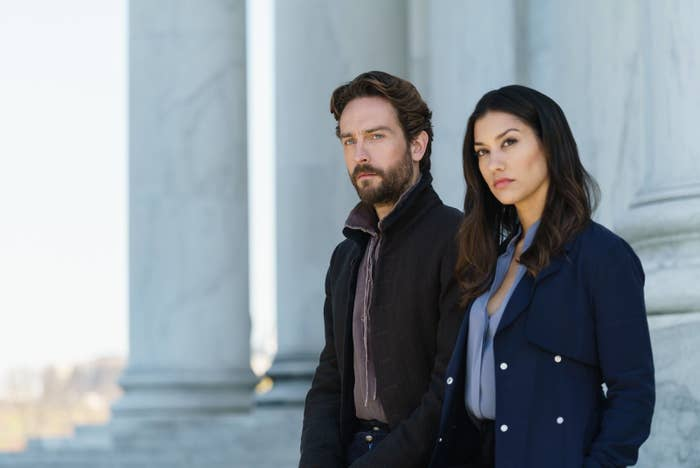 Tom Mison and Janina Gavankar.