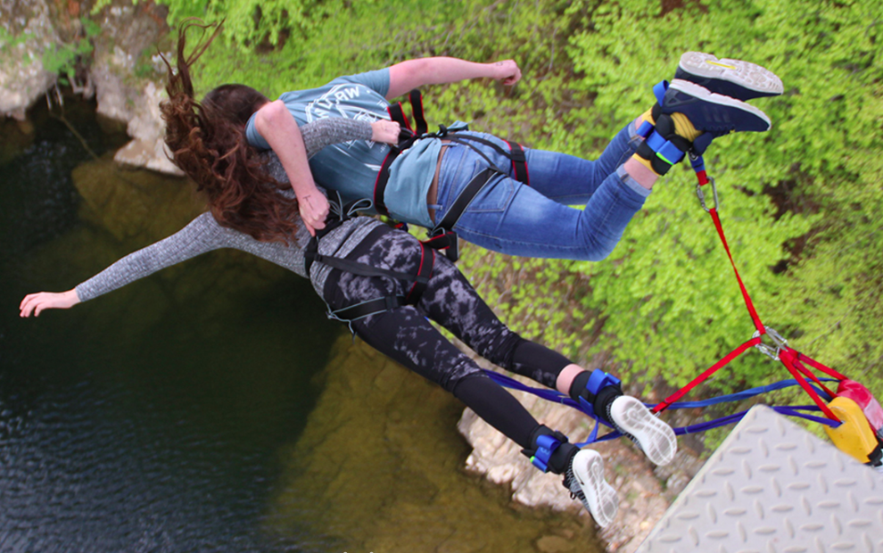 Take a leap of faith from a bridge in Perthshire.