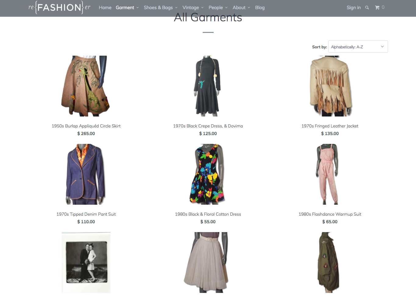 Online used clothing sites