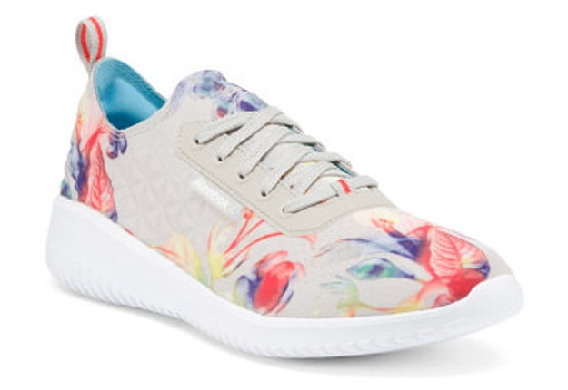 These graphic quilted Reebok trainers for killing it casual-style.