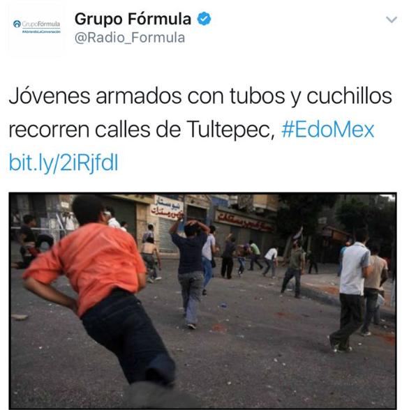 Inclusive, Radio Fórmula subió a Twitter una impactante imagen sobre los saqueos... que CLARAMENTE no era en México
