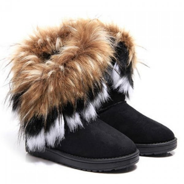 These insanely affordable faux-fur boots with flare.