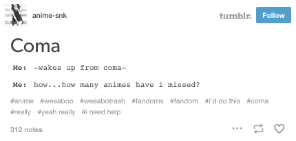 When even under great duress, you prioritize your otaku habits over all else: