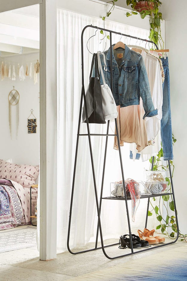 An elegant clothes rack so you always have the perfect outfit on hand.