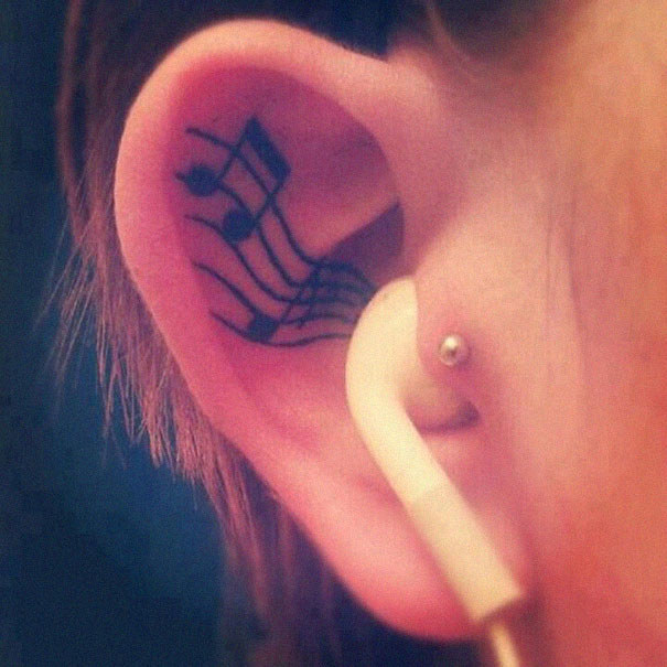 The perfect tattoo for music lovers: