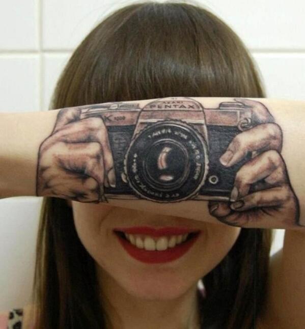 This camera tattoo: