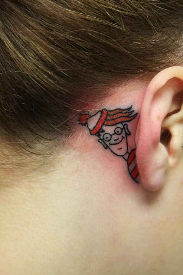 """This """"Where's Waldo"""" tattoo:"""