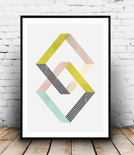 A wonderfully symmetric abstract print that's very calming to stare at.