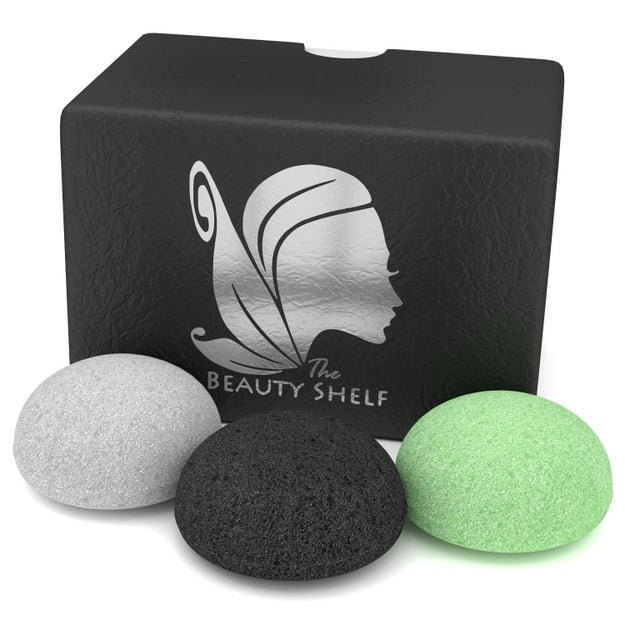 A trio of sponges that gently exfoliate normal, sensitive, mature, and even acne-prone skin.