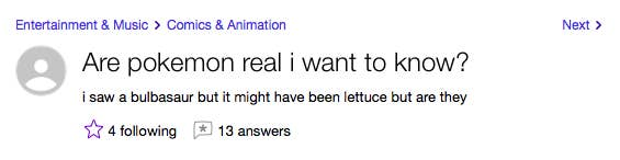 21 Yahoo Answers Questions That'll Make You Die A Little Inside