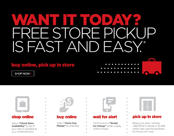 No free shipping? Try in-store pickup to save a few coins.