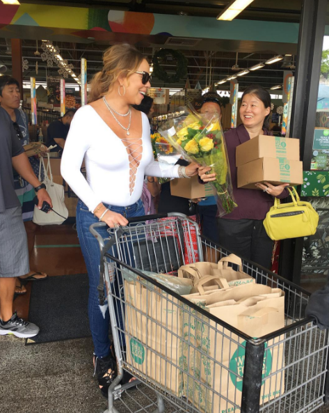 Grocery shopping for Mariah Carey: