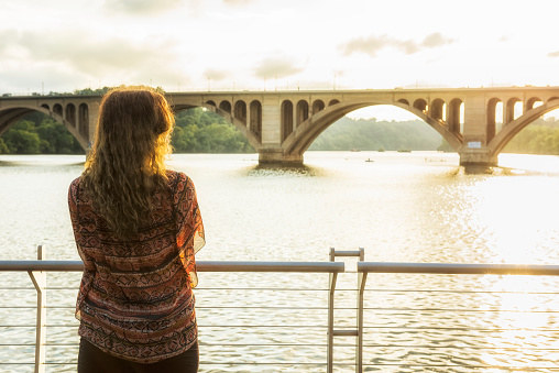 The fantastic views of the Key Bridge over the Potomac at sunset won't cost you a thing.