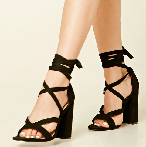 And these wrap sandals that go with everything you own.