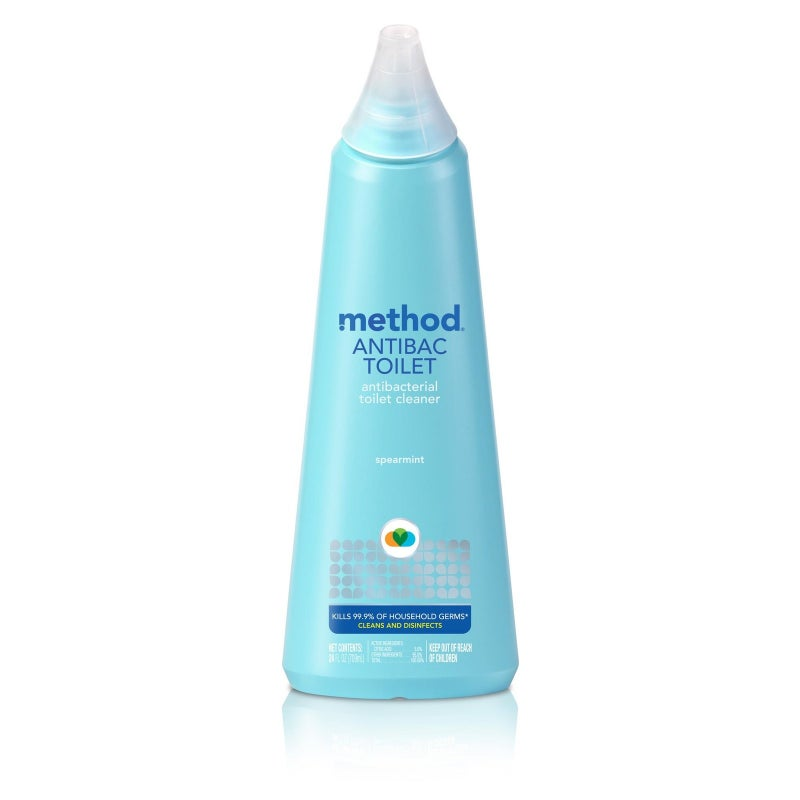 """Promising review: """"I purchased it on a whim because I like the other Method products and this one just blows me away. I love the mint smell and it really gets the toilet clean. I had been trying to remove water stains forever, and I let this sit about 10 minutes and when I came back I hardly had to scrub at all. I will definitely continue using this to keep my bathrooms clean."""" —Diana G.Price: $3.99"""