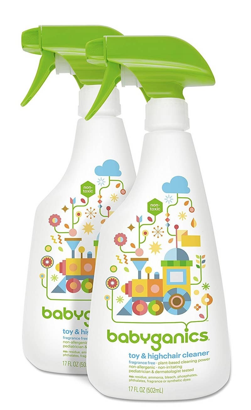 "Promising review: ""This is safe enough for your baby to eat off after you use it. I find myself using it on a lot of surfaces, including our laminate floor in the kitchen. It doesn't leave a film, and I don't have to worry about him crawling in cleaner! I use it on nearly every surface in the kitchen and on all his toys."" —Joanna B.Price: $7.58"