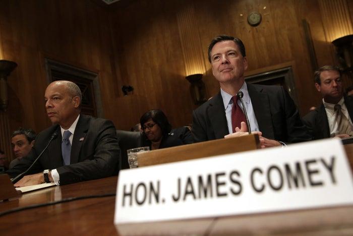 FBI Director James Comey testifies before the Senate.