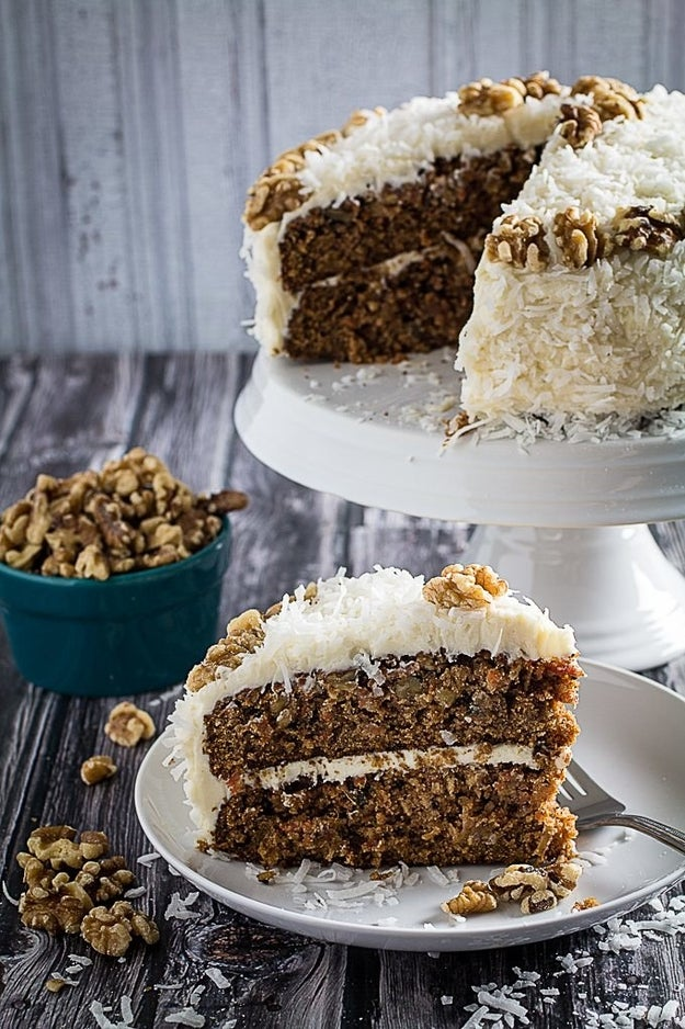 Carrot Cake with Coconut & Cream Cheese Frosting