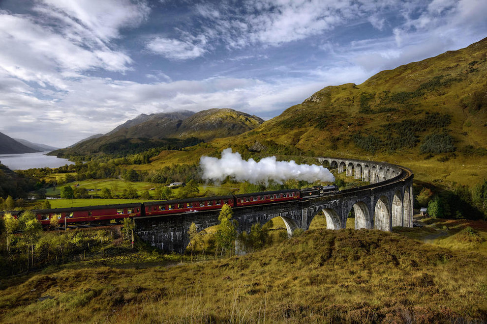 Ride the Jacobite steam train across Glenfinnan Viaduct.