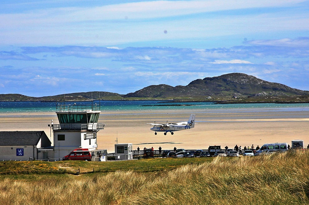 Take a flight to Tràigh Mhòr Beach in Barra.