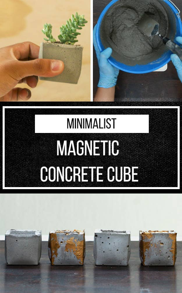 How To Easily Make Your Own Minimalist Concrete Decor