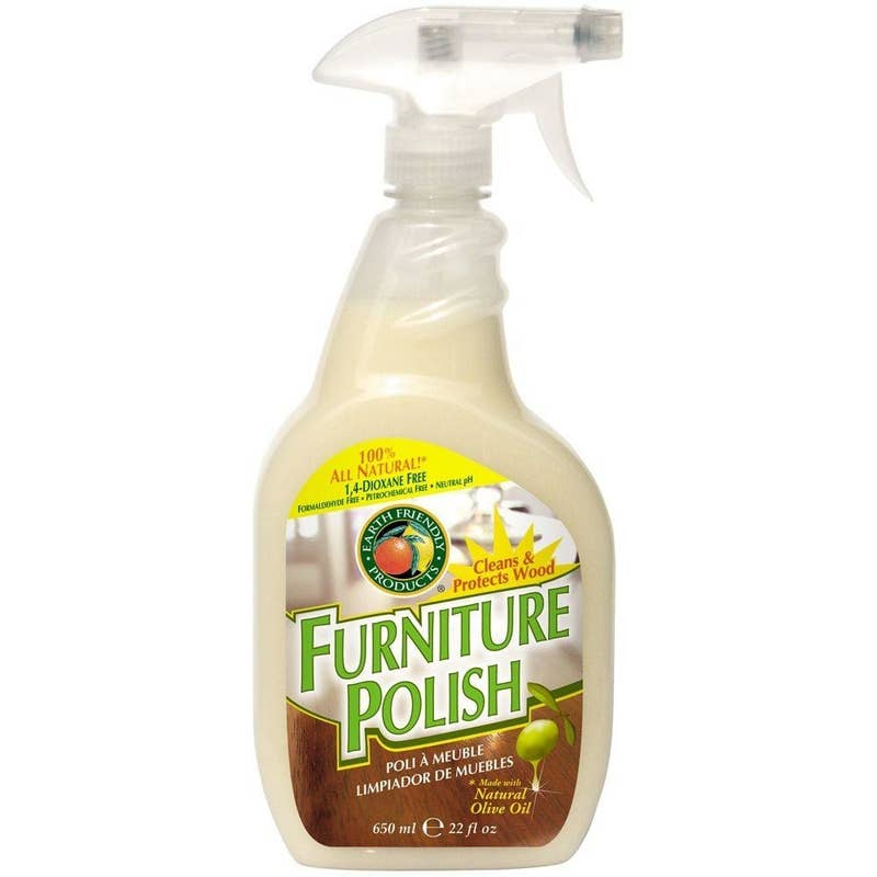 "Promising review: ""I ordered the Earth Friendly Furniture Polish because of so many positive reviews. After using the polish it is my turn to leave a positive review! I am amazed how well it works. The polish leaves a pleasant mild smell. So far I've used it on the oak kitchen cabinets, stair banister, and various furniture around the house. I recommend this furniture polish."" —PalomoPrice: $8.53 (for a pack of two)"