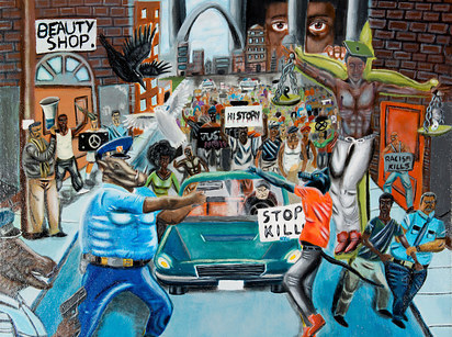 Hunter removes Hill painting depicting police as pigs