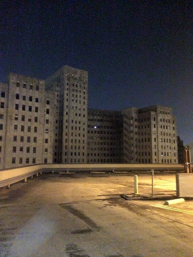 Picture yourself walking by an abandoned hospital, looking up, and seeing just one light on: