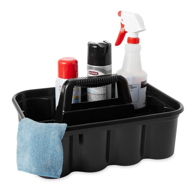 Carry all your cleaning supplies in one convenient place so you can pick up and move to your next cleaning destination with ease.
