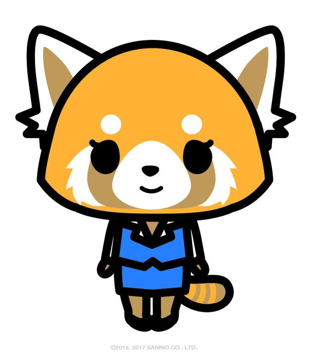 The latest character to join Sanrio is an adorable red panda named Aggretsuko.