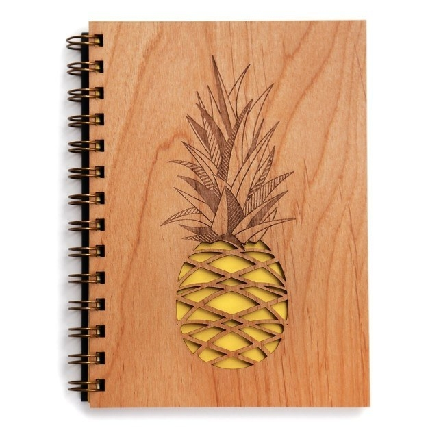 A laser-cut pineapple journal for your sweet thoughts.