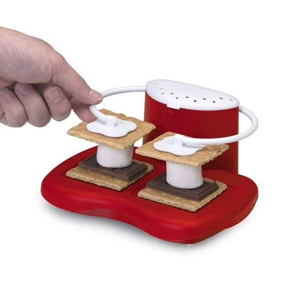 A microwavable s'more maker for when fire is not an option.
