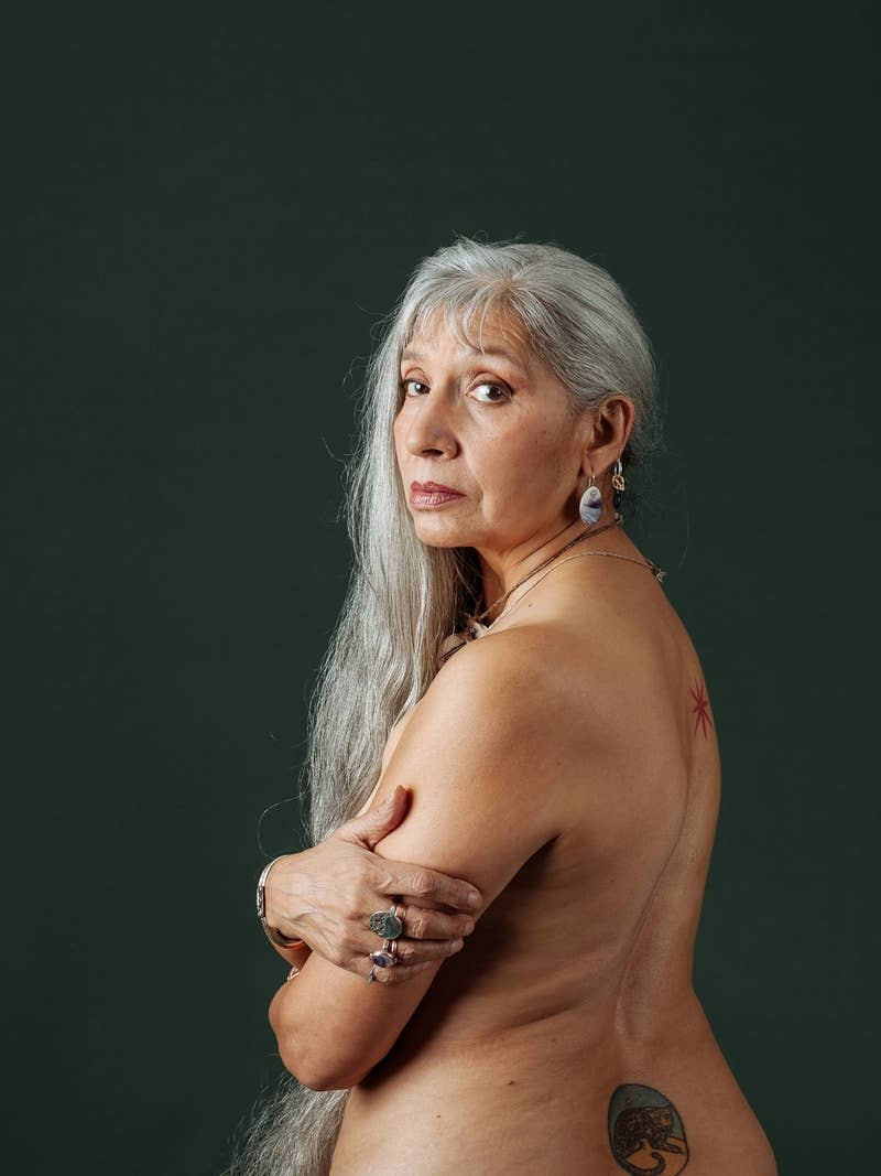 """""""It's been so hard for me not to be at Standing Rock,"""" she told the magazine. """"But it's snowing, and I don't do well in the snow. And if it's no longer appropriate for this 63-year-old to lock herself down to a bulldozer, what the fuck can an old girl like me do? """"But here, I can use my body to talk not only about what has been happening to our bodies for 500 years of colonialism, but what is happening now."""""""