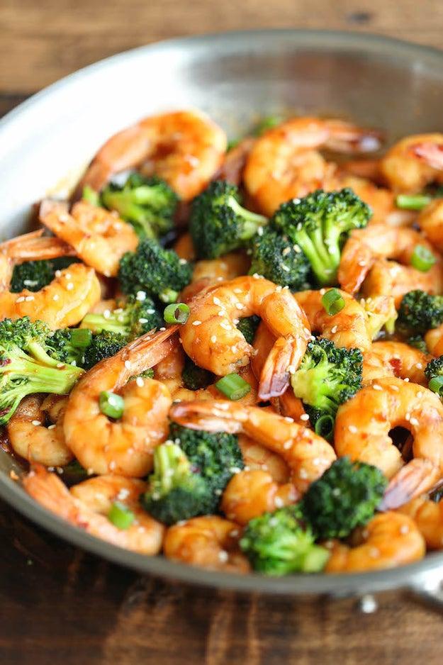 Easy Shrimp & Broccoli Stir Fry