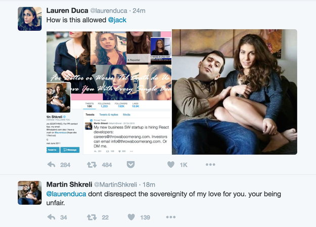Shkreli then replied directly to Duca's tweet, writing,
