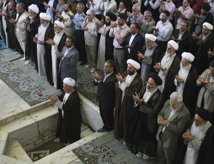 Rafsanjani leads Friday prayers in Tehran, July 17, 2009.